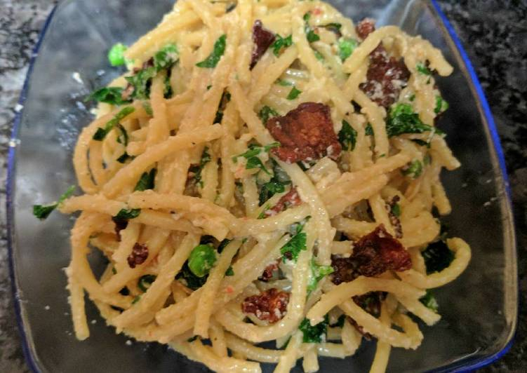 Easiest Way to Make Delicious One Pan Spaghetti Carbonara