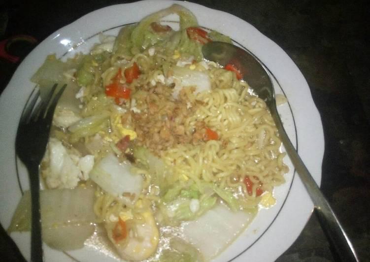 Resep Indomie goreng kuah Bikin Jadi Laper