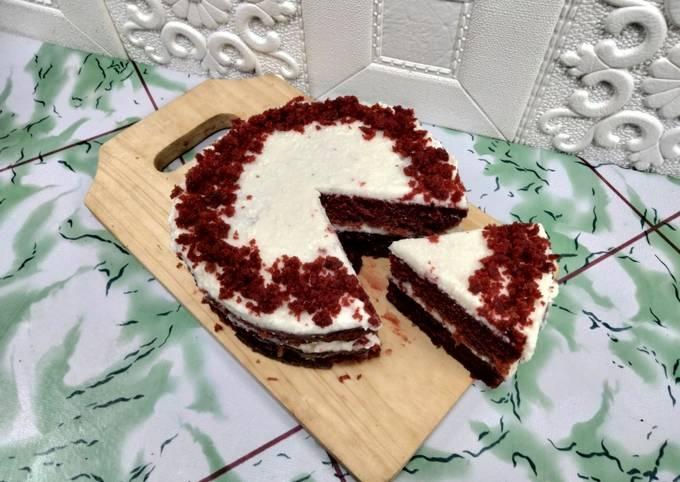 Red velvet cake tanpa telur tanpa mixer