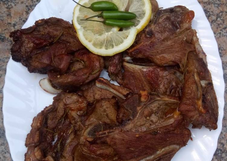 Delicious Herby lamb chops