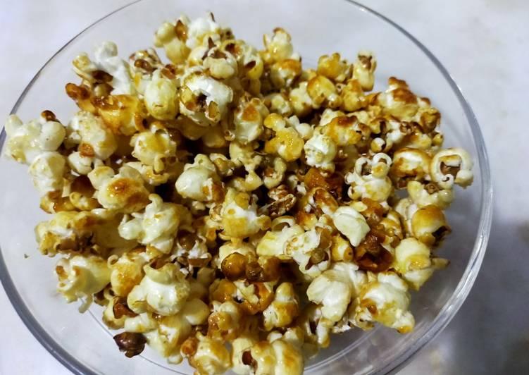 Recipe of Quick Caramel popcorns