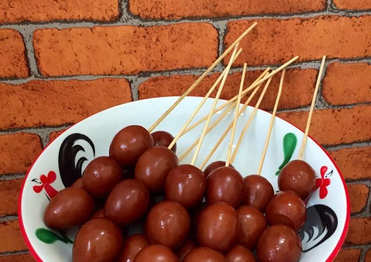 Sate Telor Puyuh (Tanpa gula merah Tanpa Kecap)