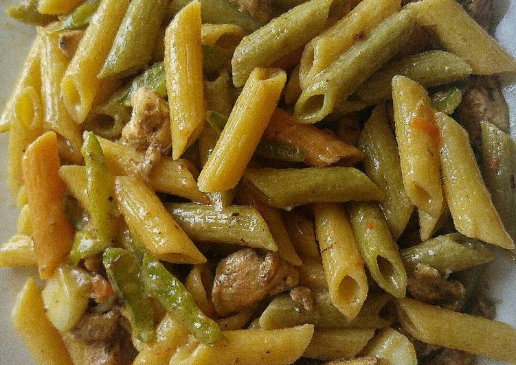 The Secret of Successful Coconut Jerk Chicken Pasta