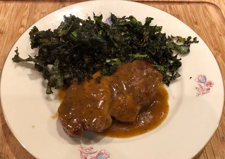 Greek braised with , mustard and orange sauce