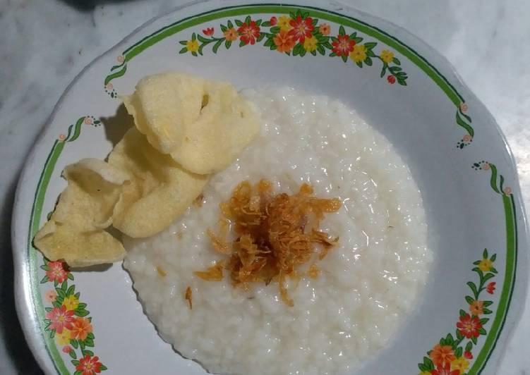 Bubur nasi enak gurih & mudah