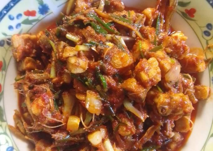 sambal goreng kucai tempe - resepenakbgt.com