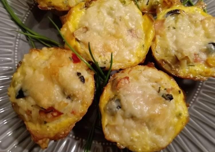 Reis-Gemüse-Schinken-Muffins