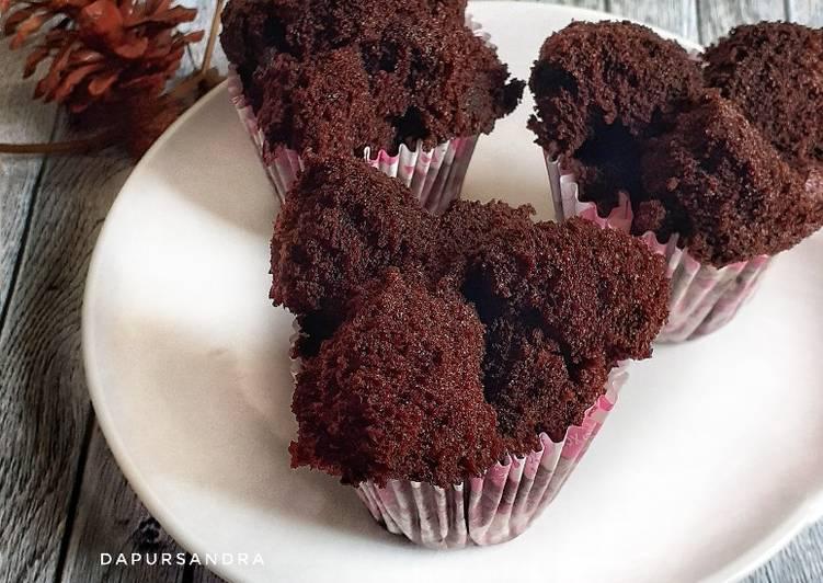 Brownies Mekar Tepung Beras (eggless) - cookandrecipe.com