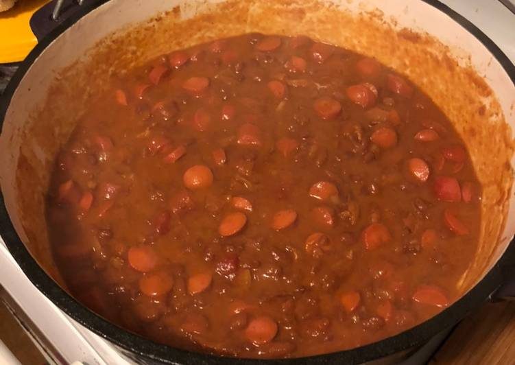 Easiest Way to Cook Yummy Beans an franks