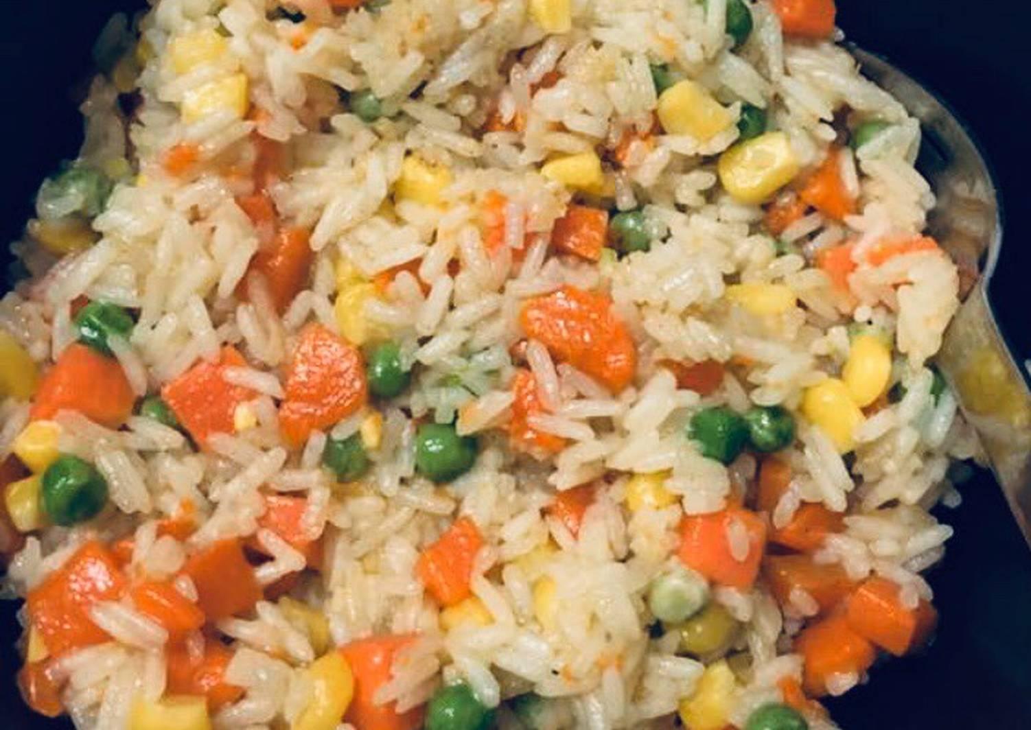 как приготовить рис с овощами замороженными фото
