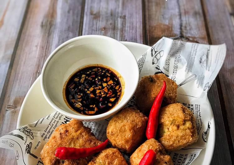 Cara Mudah Masak: Tauhu Bergedil Ayam Simple