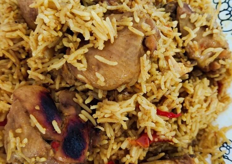 Bagaimana Membuat Nasi briyani ayam Lezat