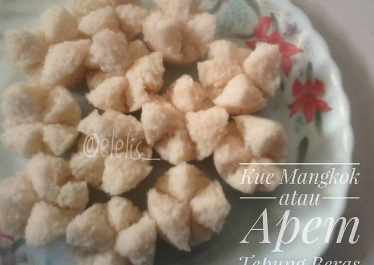 Kue Mangkok/Apem Mekar Tepung Beras