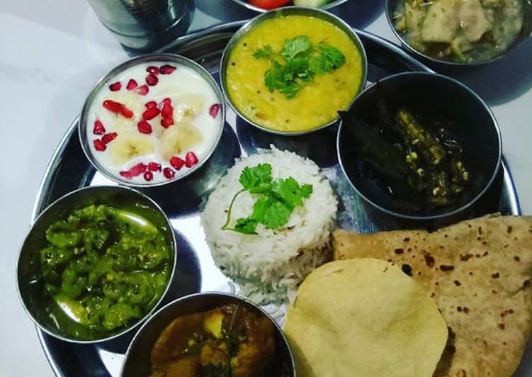 Easy Comfort Dinner Ideas Quick Veg Thali