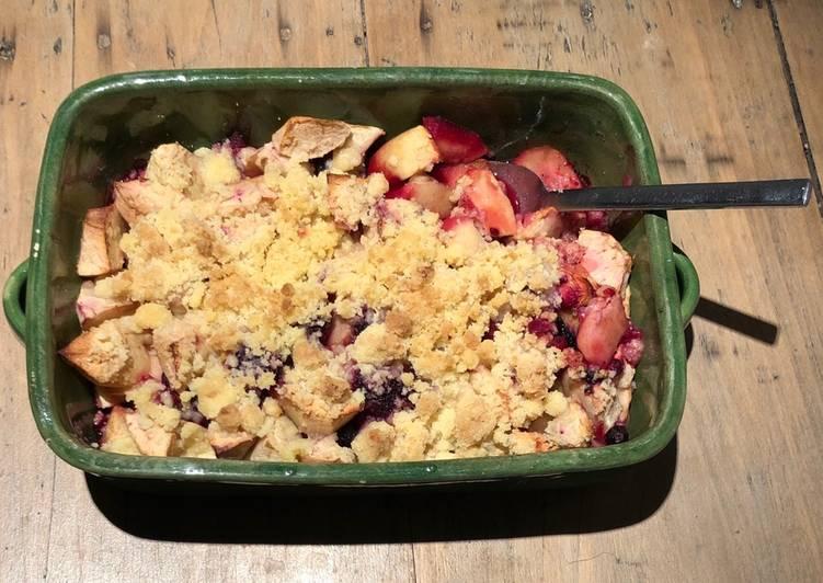 Comment Préparer Des Crumble pommes & fruits rouges
