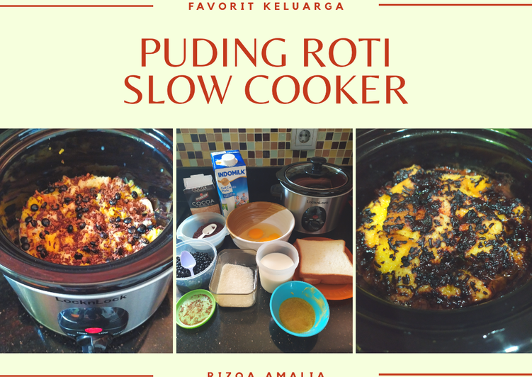 Puding Roti Slow Cooker lumerr moist dan anti gagal