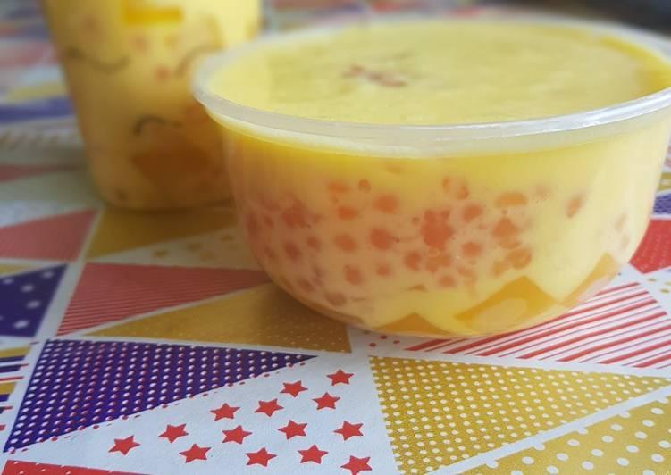 Manggo milky jelly