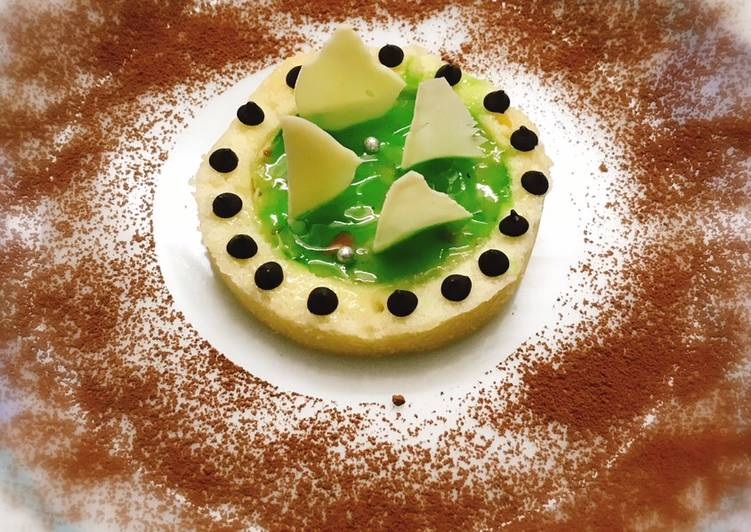 Japanese cotton sponge with bottle gourd pudding