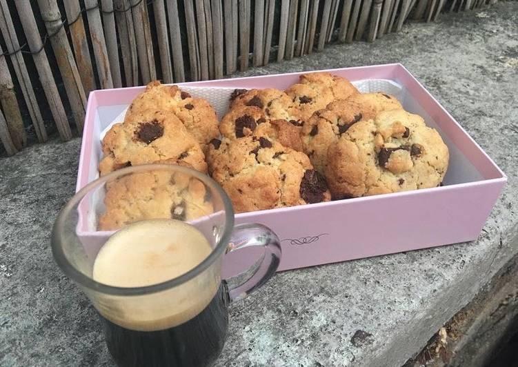 Cookies moelleux aux pépites de chocolat noir