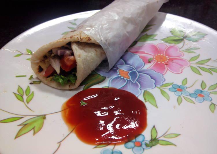 Recipe: Delectable Classic Arabian Shwarma/Chicken Pita Roll