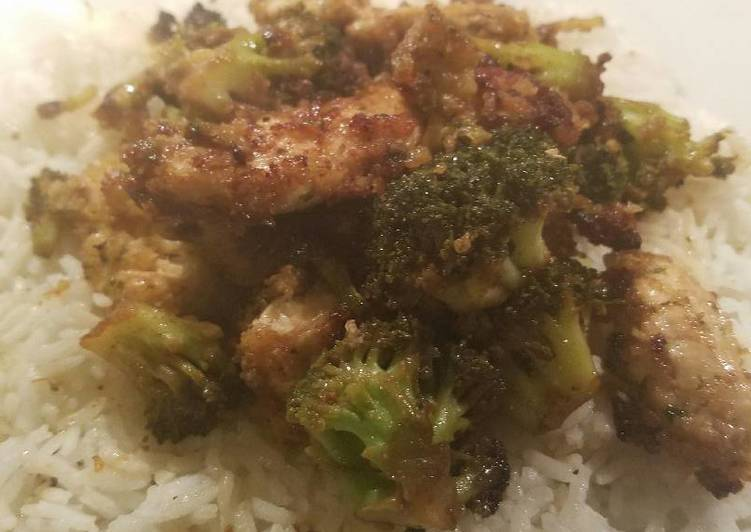 Easiest Way to Cook Delicious Chicken and broccoli with white rice