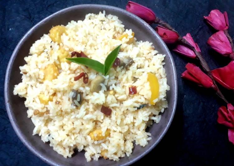Mushroom n babycorn Thai rice