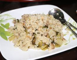 Nasi Tim Sayur pahit plus babi panggang / Koa Chai Pui