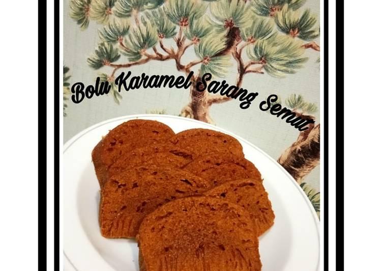 cara masak Bolu Karamel Sarang Semut Lembut, Manisnya Pas, No Mixer,No Oven - Sajian Dapur Bunda