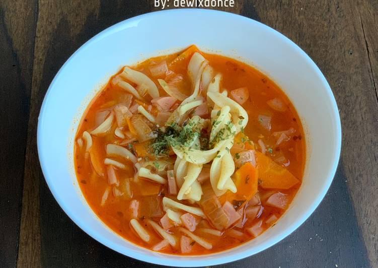 Resep Bolognese fusilli soup, Lezat