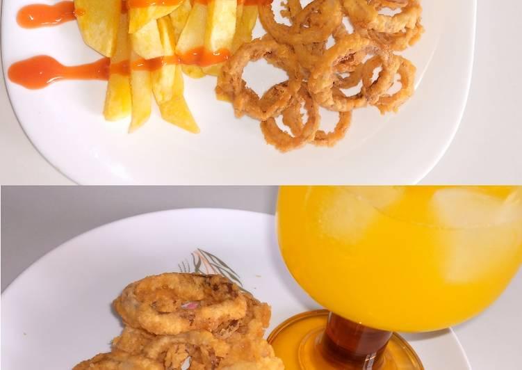 Deep-fried Onion Rings #deepfriedsnacks