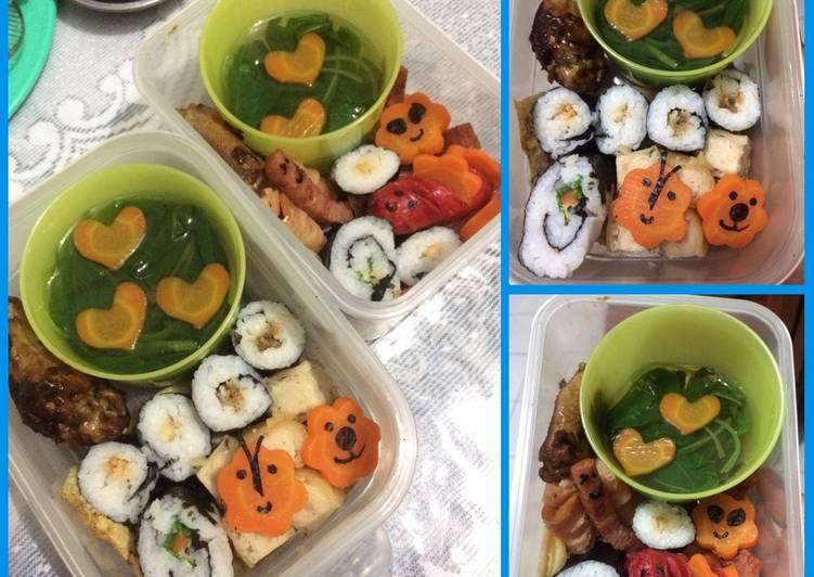 Sushi isi sayur bayam