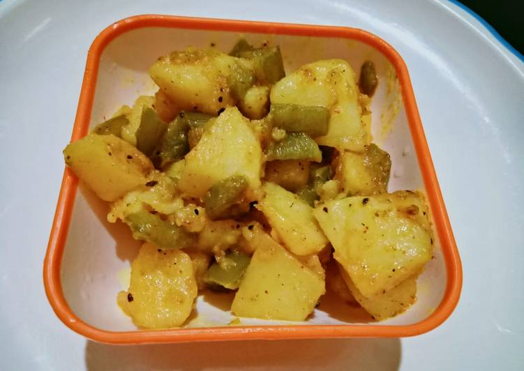 How to Make Perfect Potatoes And capsicum veg