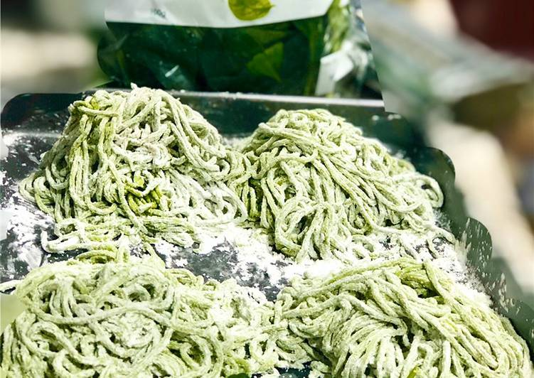 Steps to Make Perfect Spinach Fettuccini and Spinach Noodles