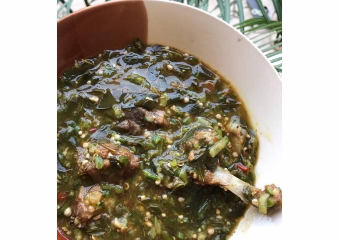 Okro Moringa soup