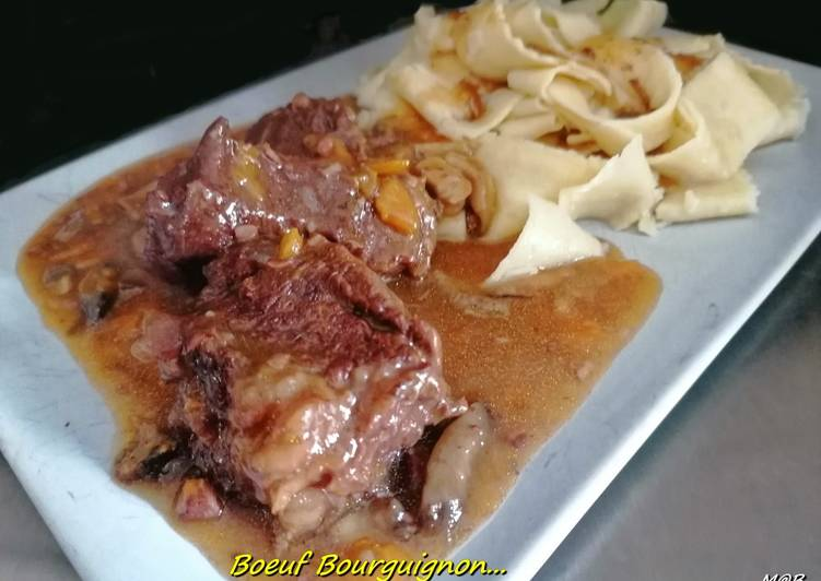 Recette Appétissante Bœuf bourguignon au cook expert #cookexpertmagimix