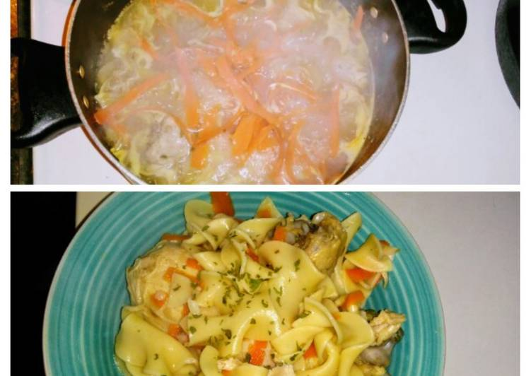 Easiest Way to Make Perfect Chicken Noodles & Veggies