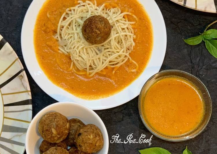 Recipe of Award-winning Spaghetti with meat balls (vegan)