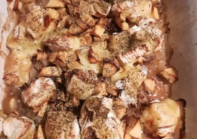 Escalopes de veau pommes camemberts