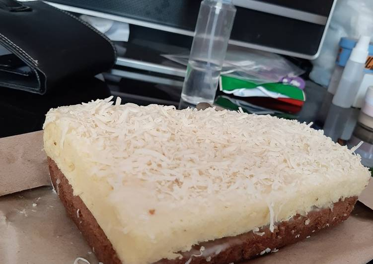 Bolu susu kukus (takaran sendok)