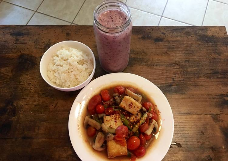 Recipe: Tasty Tofu & tomato for vegan