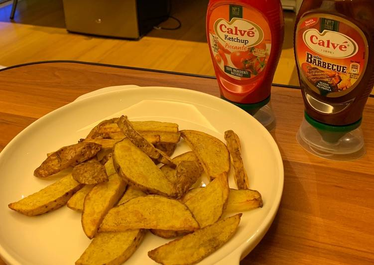 How to Prepare Super Quick Homemade Air fried potato wedges