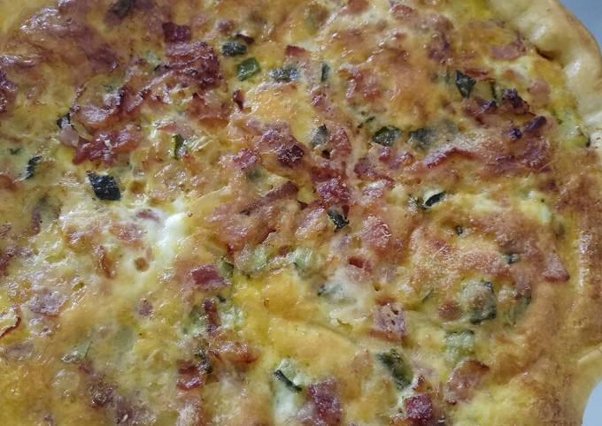 Easiest Way to Make Gordon Ramsay Pancetta, courgette and Parmesan quiche