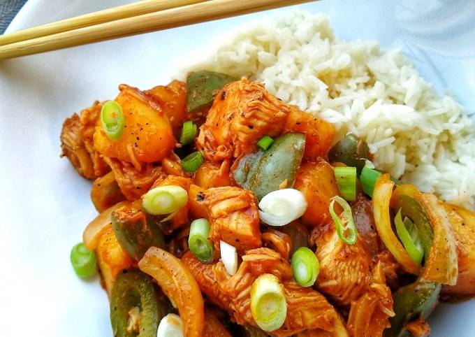 Sweet & Sour Chicken Hong Kong Style (Without Batter)