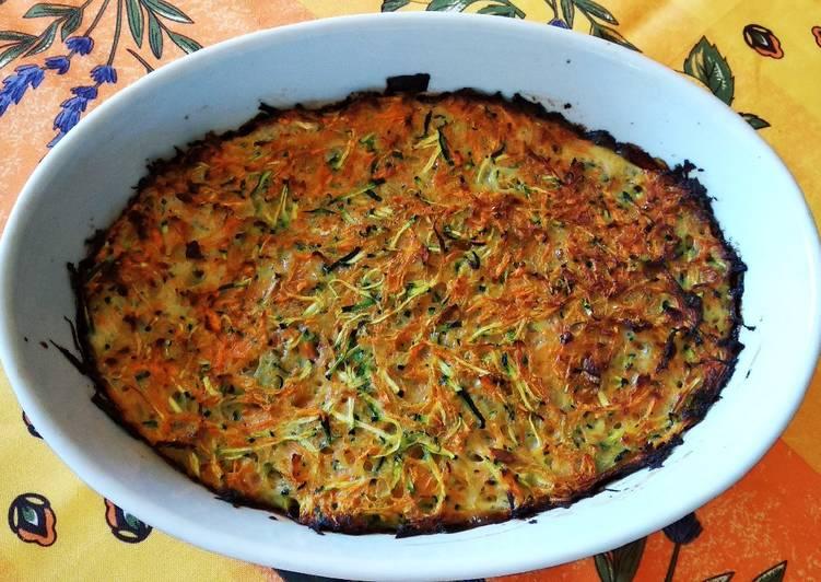 Gratin de courgettes et carottes aux épices