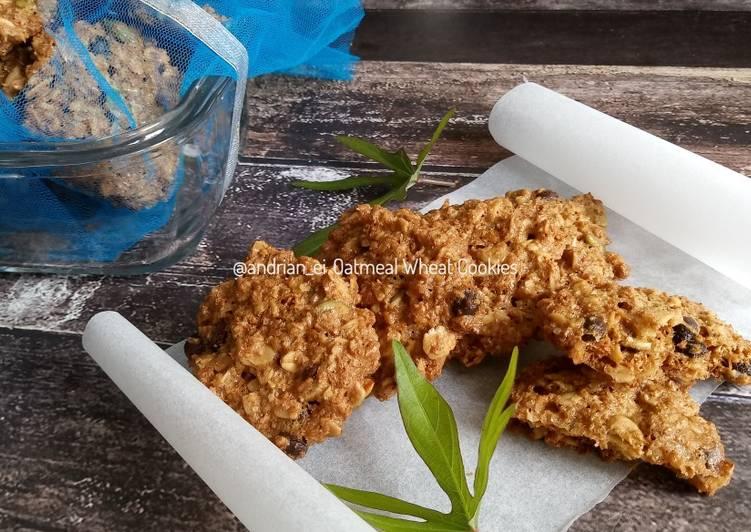 Oatmeal Wheat Cookies (Cookies Oatmeal Gandum)