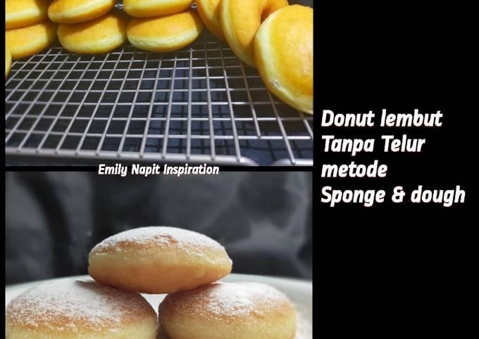 Donut tanpa telur metode sponge & dough