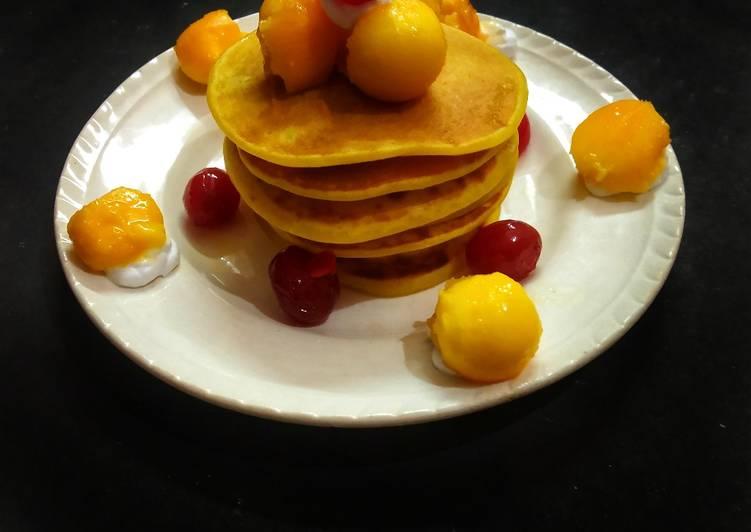 Simple Way to Prepare Any-night-of-the-week Mango Pancake