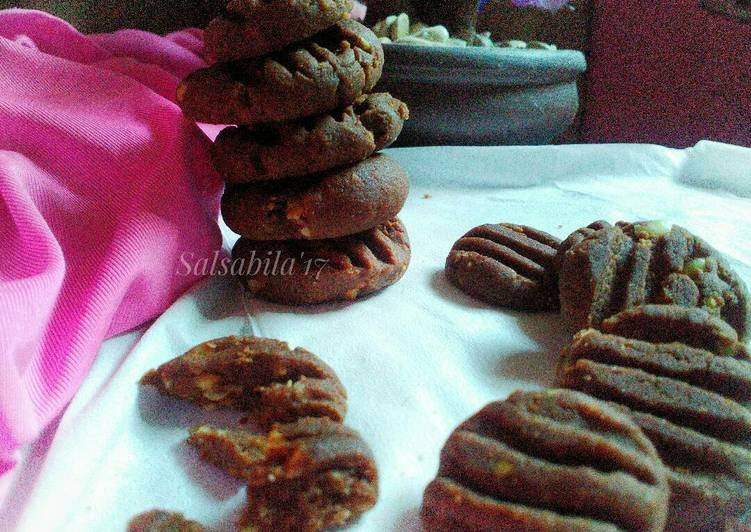 Resep Cookies coklat kacang teflon(lagi)#cookpadpeduli #kankerpayudara yang Lezat