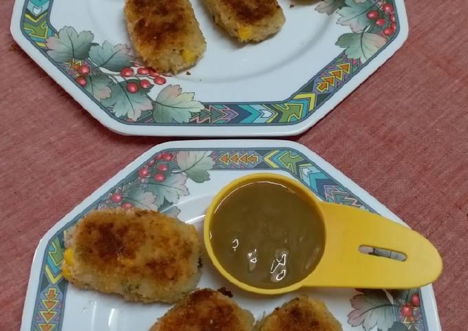 Corn and Potato Cutlet