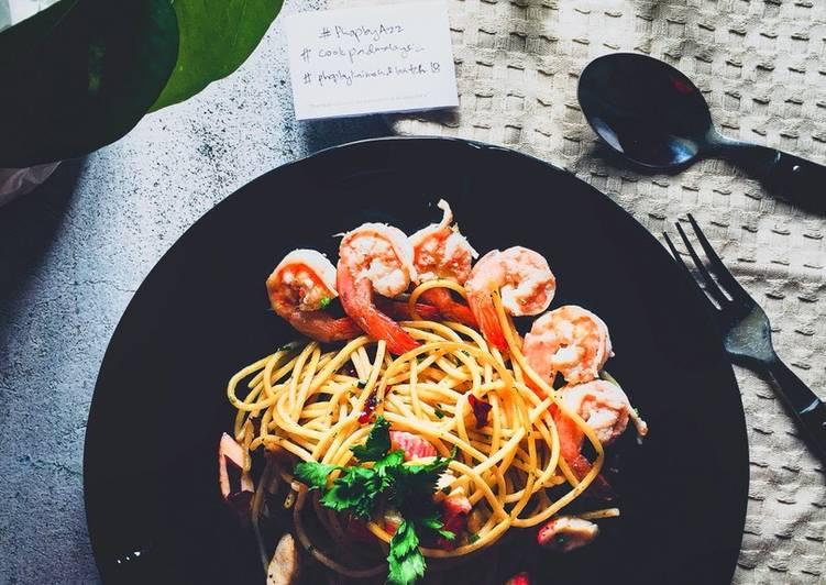 Spicy Aglio Olio  #phopbylinimohd #batch18